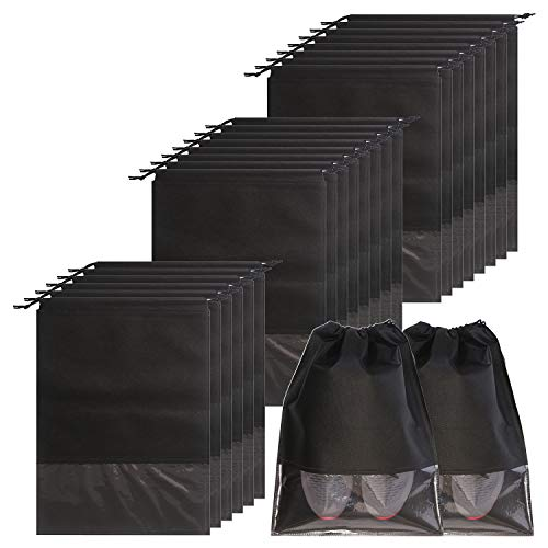 24PCS Travel shoe bags non-woven with rope for men and women large shoes storage packing pouch organizers