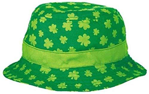 amscan 250535 Green Shamrock Bucket Hat, 1ct, 4 1/2' x 10'