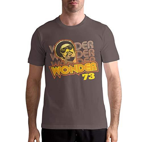 Larry C Dizon Man Stevie Wonder Logo Funny Design Short Sleeve T-Shirt XXL Coffee