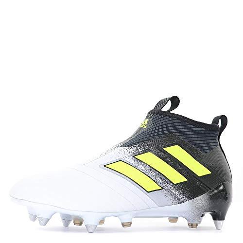 Adidas Ace 17+ Purecontrol SG - Scarpe da calcio, colore: bianco e nero, Bianco (bianco), 40 EU