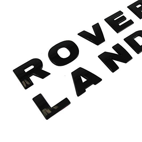 RNR Land Rover Schriftzug Black Piano Glänzend Discovery Defender Freelander Schrift Buchstaben Emblem Neu + Schablone