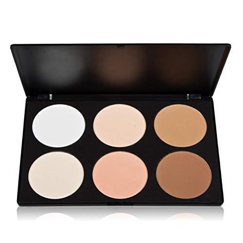 Vodisa Contour Face Powder Kit Base Foundation Corrector Palette Sleek Pigment Pro Pressed Powder Cosmetics Highlighting Contouring Bronzing Professional Beauty Make up Bronzer Pallet Brown