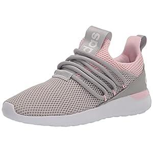 adidas Lite Racer Adapt 3.0 Running Shoe, Grey/Grey/Clear Pink, 1.5 US Unisex Little Kid