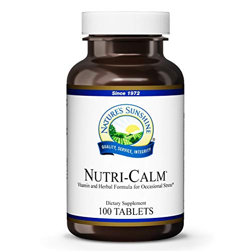 Nature's Sunshine Nutri-Calm, 100 Tablets, Natural Anxiety Supplement to Promote Peace of Mind and Cope with Occasional Stress