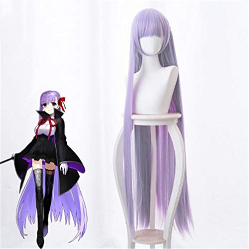 Anime Fate Extra Ccc Bb Cosplay peluca Byibyi accesorios de vestuario chica prpura 120Cm pelo largo recto pelucas de pelo sinttico