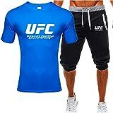 Camiseta Estampada Mangas Y Pantalones Cortos De Verano, Traje De Ropa Deportiva De Impresión Al Aire Libre De UFC, Regalos para Fanáticos (Size : Medium)