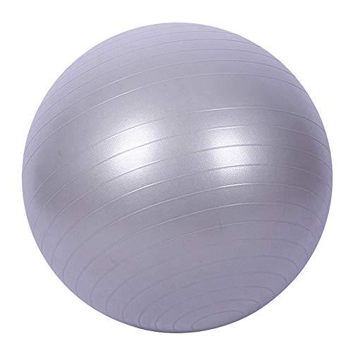 mothcattl Pelota de ejercicio 45 cm antiestallido con bomba, pelota suiza para yoga, pilates, embarazo y fitness, color gris