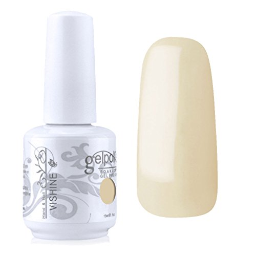 Vishine Vernis à ongles Semi-permanent GelPolish Soak-off UV LED Manucure Vernis Gels Barbe de maïs (1406)