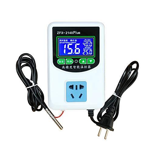 Controlador de Temperatura Digital ZFX-W2140A Termostato de Control de Temperatura del Sensor NTC de refrigeración Inteligente de Alta precisión para la eclosión de la Nevera del congelador
