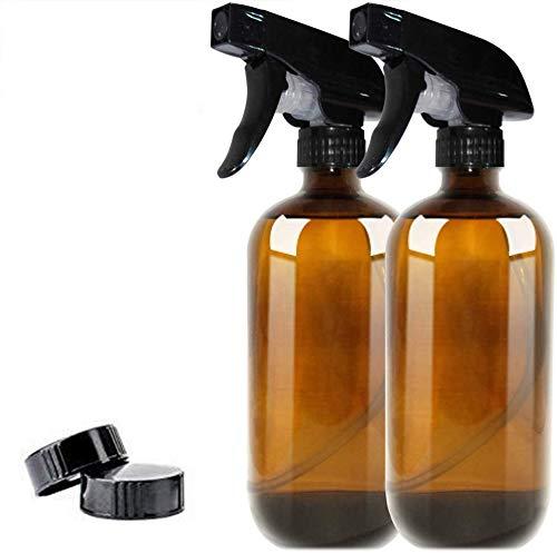 APcjerp 2pcs 500ml Verre Vide Vaporisateur Refillable Mist Atomiseur Water Container Pulvérisateur Plantes Parfum Cheveux (2pcs Plastique Buse + Bakélite Cap)
