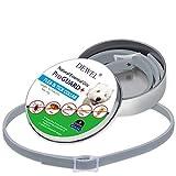 Collier Antiparasitaire Dewel 63,5cm Collier Anti-puces Tique Imperméable Anti-allergique pour Chats Chiens Animaix Durée de 8 Mois