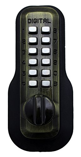 Digital Door Lock M210 Mechanical Keyless Deadbolt, Antique Brass