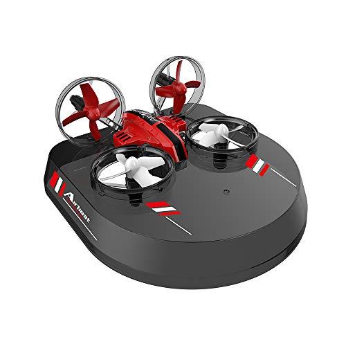 Godyluck L6082 RC Drone Flugzeug Luftkissenfahrzeug 3 in 1 Quadcopter Segelflugzeug Luftschiff 2,4G RC multifunktionale Flugzeuge Weihnachten Geburtstagsgeschenk Spielzeug für Kinder