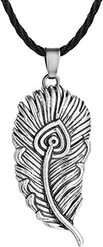 Collar Moda Slavic Firebird Colgante de plumas para hombres Personalidad vintage Cadena de cuerda Collares Joyería masculina Accesorios étnicos Collar colgante Regalo para hombres Mujeres Niñas Niños
