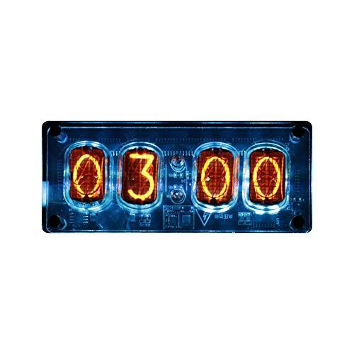Ajcoflt Nixie Tube Clock, IN-12 Replaceable Nixie Tubes Digital Clock Cyberpunk Decor Gift with Multicolor LED Backlight,DIY Creative Decoration Clock