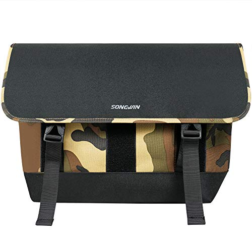 Messenger Bag for Men and Women,Water Resistant Canvas Satchel 14 15.6 Inch Laptop Briefcases Business Shoulder Bookbag