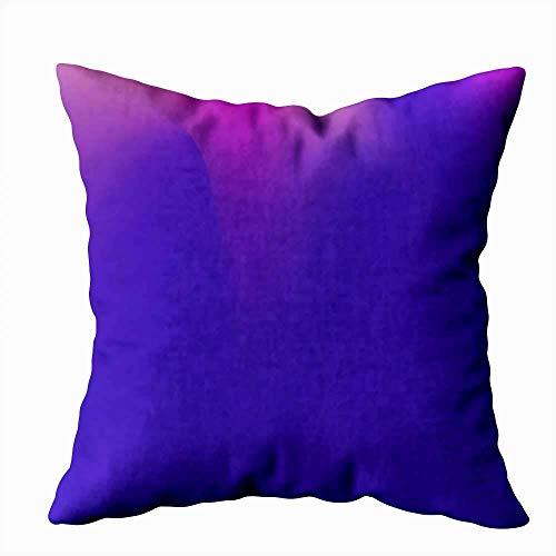 Funda de almohada para el hogar, funda de almohada, 50 x 50 cm, ultra violeta ondulado, diseño original, lila, decoración de degradado, fundas de almohada con cremallera para sofá cama