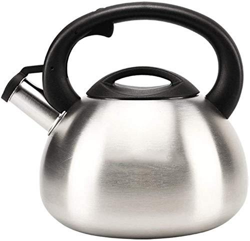 Bouilloire Cuisine Silver Home épaissie de qualité Alimentaire 304 Cuisinière à Induction en Acier Inoxydable Gaz général Automatique Sifflet XMJ (Size : 2.5L)