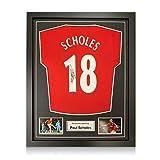 exclusivememorabilia.com Camiseta del Manchester United firmada por Paul Scholes. Enmarcado