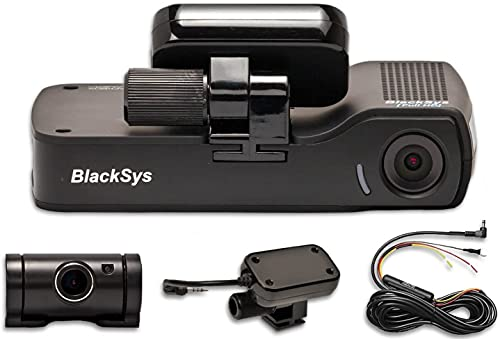 BlackSys CH-100B 2 Channel 1080P FULL HD Front and Rear Pro Wide Angle Dashboard Recorder | Dash Cam...