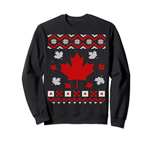 Canada Country Lover Ugly Christmas Sweater - Maple Leaf