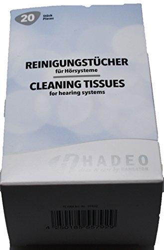 Hörgeräte Reinigungs-Tücher für Hörsysteme NEU von Hadeo