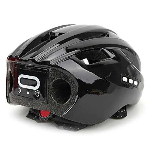 SHYEKYO Casco de Bicicleta, ajustador de Casco de Bicicleta Recargable para Bicicleta(Negro Completo, Tipo de Torre Inclinada de Pisa)