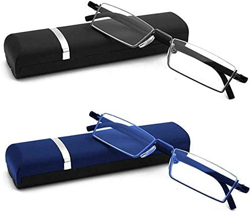 REAVEE 2 Pack Half Frame Metal Reading Glasses Spring Hinge for Women Men Lightweight Half Rimless product image