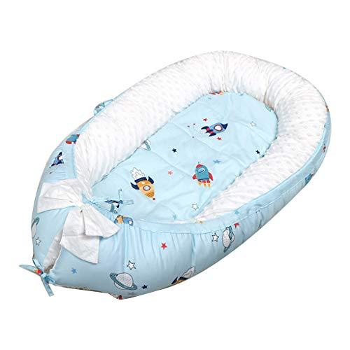 RipengPI - Cama nido de algodón suave con colchón portátil desmontable para bebé