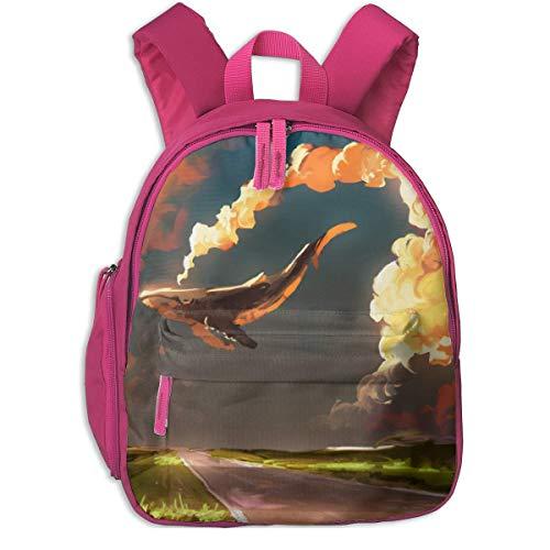 ADGBag Kinder Rucksack Cute Animal Cartoon Download Cloud Sky Whale Pocket Backpacks Backpack Schoolbag for Childrens Kids Children Boys Girls