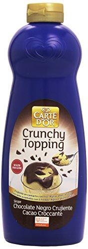 Carte D'Or - Crunchy Topping - Sirope de chocolate negro crujiente - 892 ml