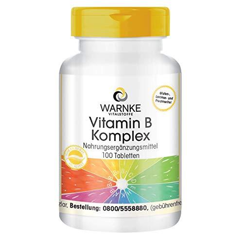 Vitamin B Komplex hochdosiert - enthält alle B-Vitamine - vegan - 100 Tabletten