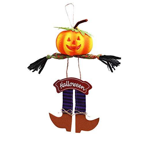 MOIX Kostüm Halloween Halloween Kürbiskopf Anhänger Hausnummer Fotografie Requisiten Bar KTV Dekoration lila 44x19cm kostüm Tattoos temporäre türklingel Auge
