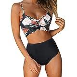 riou Bikinis Mujer 2019 Push up Sexy Conjunto de Traje de BañO Bohemio BañAdores con Relleno Brasileños Bañador Ropa de Dos Piezas Tops de Bikini vikinis Mujer