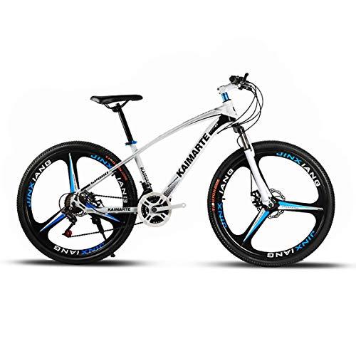 F-JWZS Unisex Fahrwerk Mountainbike, 24 Zoll mit Doppelscheibenbremse, 21/24/27 Geschwindigkeit - für Schüler, Kinder, Erwachsene Pendlerstadt,White,27Speed