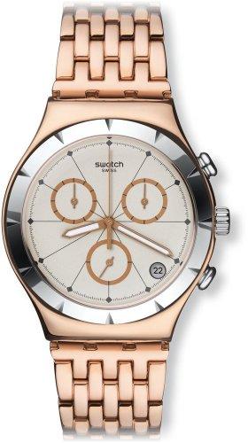 Swatch YCG408G - Correa de Acero Dorado para Hombre y Mujer (40 mm)
