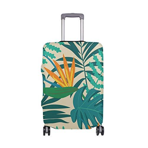 Funda protectora para equipaje de viaje, diseño de hojas tropicales, maleta, para adultos, mujeres, hombres, adolescentes, para 18 – 20 pulgadas