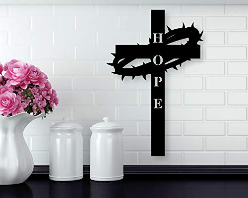 Ced454sy - Cruz de metal con cruz de metal para decoración de pared,