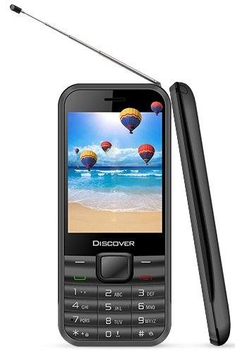 KOCASO Discover TV Cell Phone (Television Feature, Dual SIM, Analog TV Built In, Apps, MP3/MP4 Music Player, FM Radio, Fla...