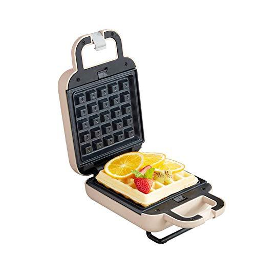 MEYLEE Sandwichera Individual, waflera, rosquilla, Mini tostadora desayunadora, con Placas antiadherentes, Indicadores Luminosos, 600 W