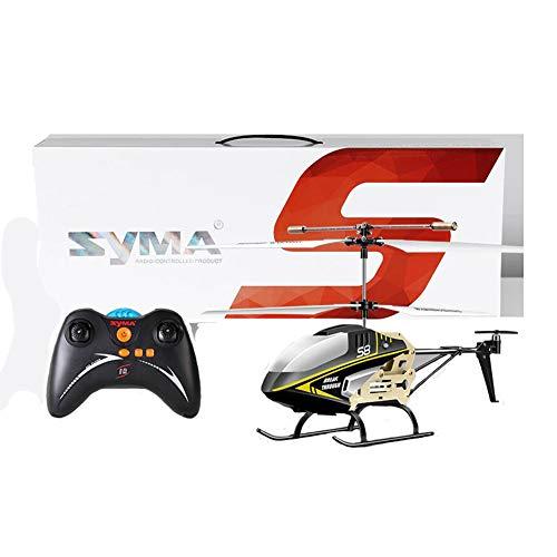 MapleIT Drone di Aerei telecomandati, Elicottero Elicottero a Tre canali Modello S8 a Controllo remoto, con Telecomando Senza giroscopio,Black