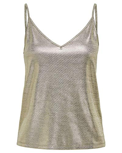 ONLY Damen ONLCAROL S/L V-Neck TOP JRS Träger/Cami  Camisole Shirt,  Frosted Almond,  M
