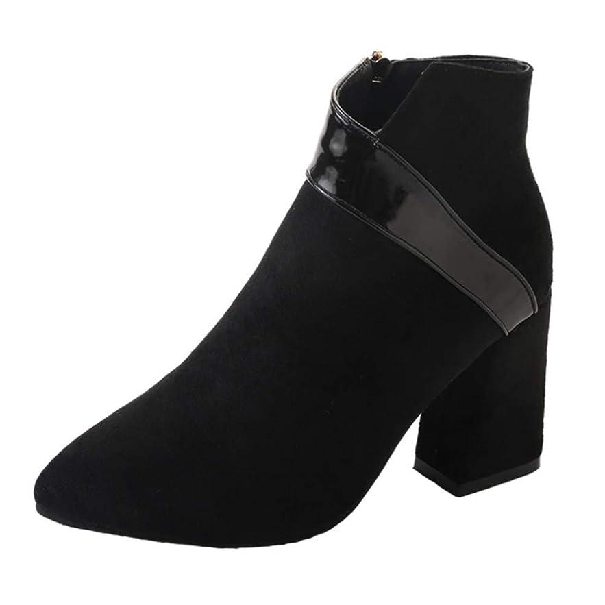 誤って短命ディンカルビル[Cozy Maker] C&M ショートブーツ レディス ブーツ 美脚 スエード調 靴 くつ おしゃれ ハイヒール 歩きやすい 痛くない 秋 冬 フェイクレザー 婦人靴 チャンキーヒール スエード調 無地 ヒール:8.5CM