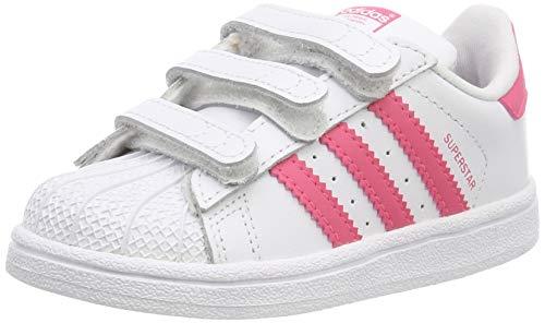 Adidas Superstar CF I, Zapatillas de Gimnasia, Blanco FTWR White Clear Pink Clear Pink FTWR White Clear Pink Clear Pink, 23 EU