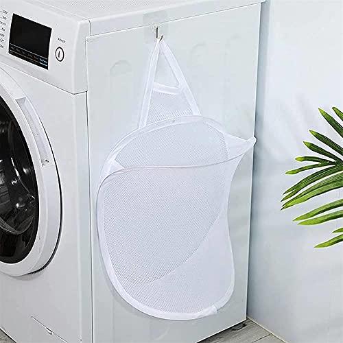 Parshall, cesto portaoggetti da appendere per vestiti sporchi, in rete traspirante, multifunzionale, per riporre i bidoni della casa, 2 pezzi