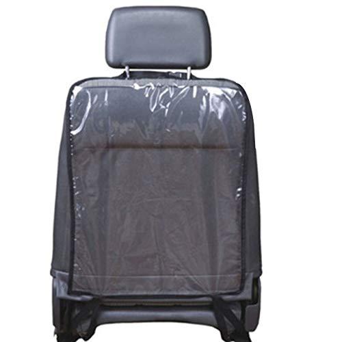 fengzong Car Auto Seat Back Protector Cover Organizer Backseat Organizer for Children Kick Mat Mud Clean Backseat Child Kick Guard Seat Saver (Black & Black)