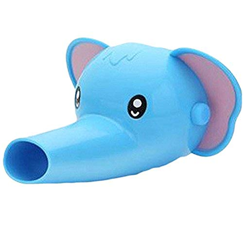 EJY Extension de Robinet Extender pour Enfant Bébé Se Laver Les Mains, éléphant Bleu