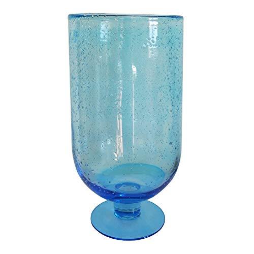 Jolipa - Vaso in vetro con bolle, altezza 34 cm, colore: Blu