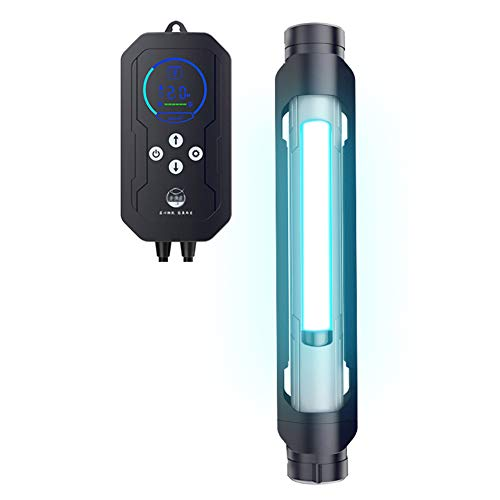 Keimtötendes Licht Aquarium-Desinfektionslampe, UV-Entkeimungslampe für Fischteich, Sterilisation, Algenentfernung, Wasseraufbereitung, wasserdichtes Quarzrohr, mit intelligentem Timer
