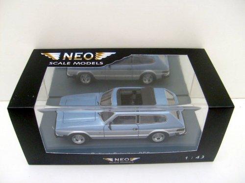 Reliant Scimitar SE 6, silber/blau , 1979, Modellauto, Fertigmodell, Neo 1:43